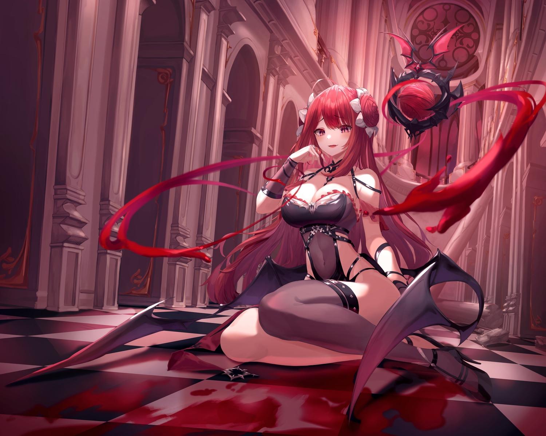 hair red Anime succubus