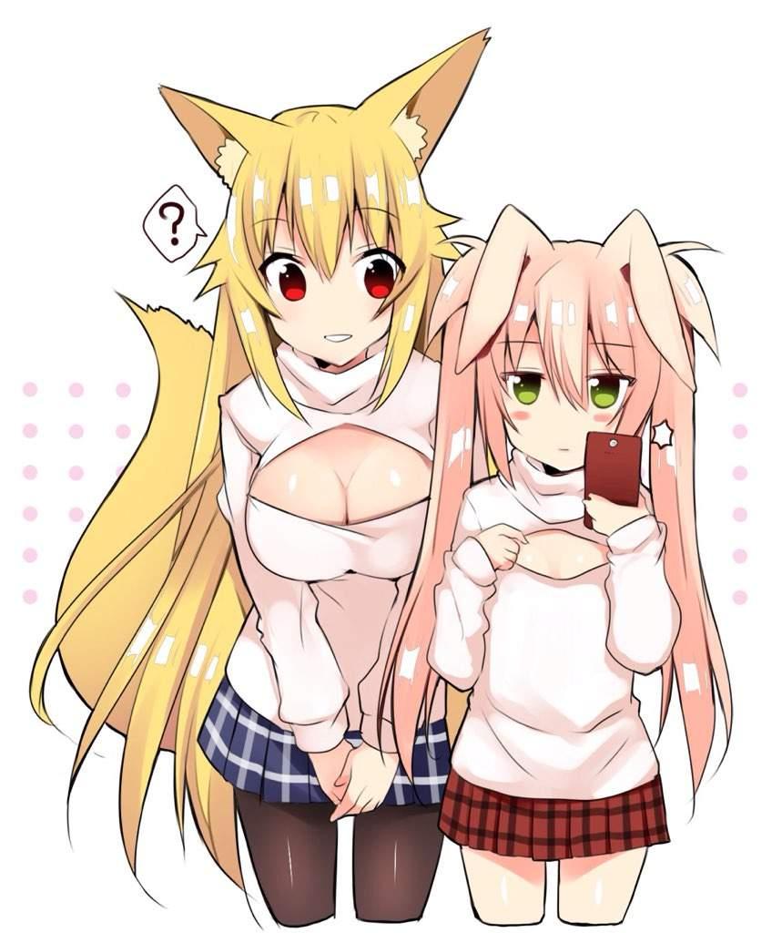 Anime sweater girl