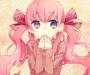 pink hair woman Anime