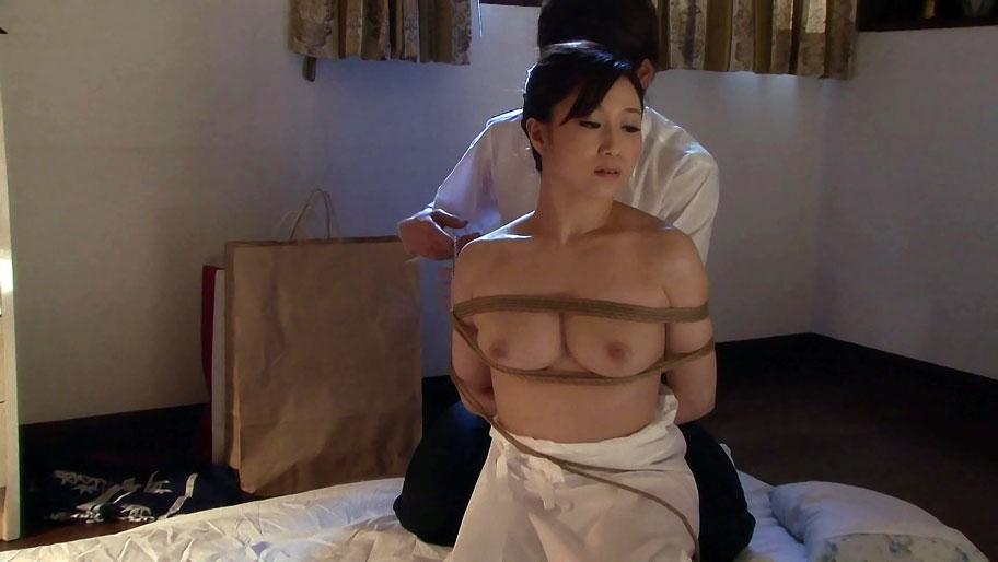 closeup otngagged Asian housewife