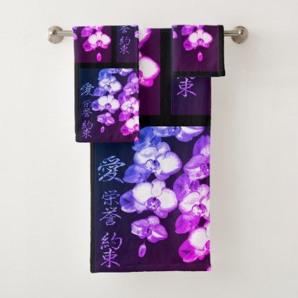 sets towels design Asian bath