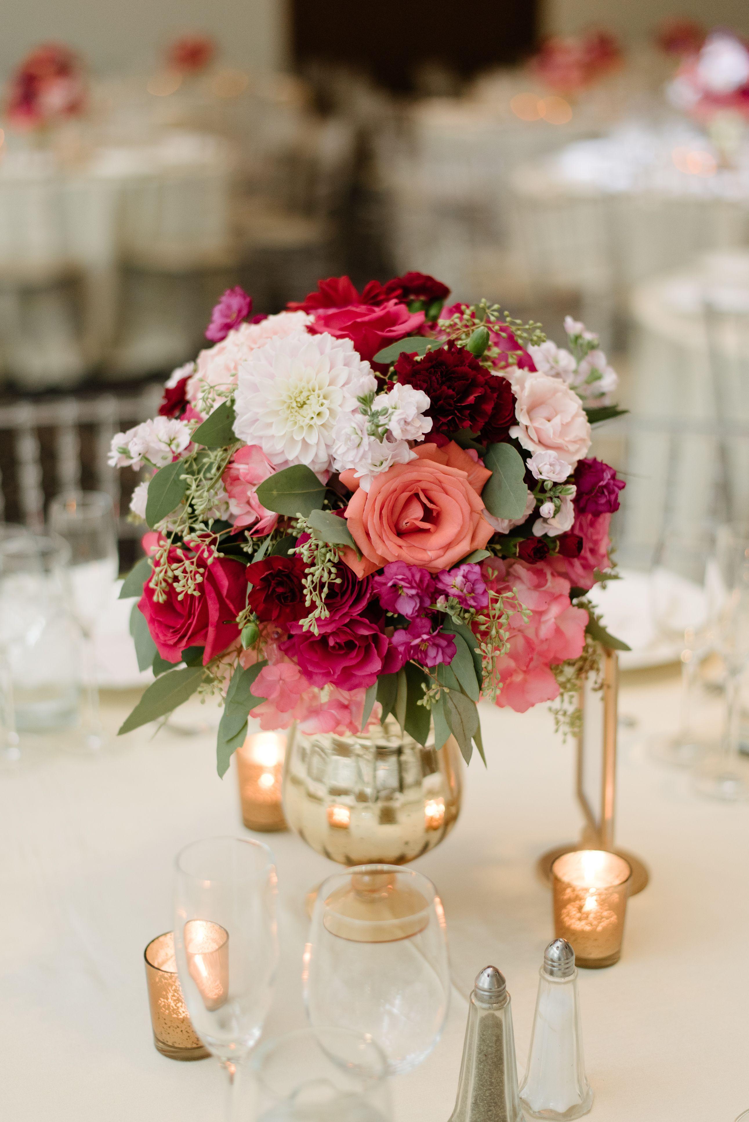 Asian wedding floral arrangement