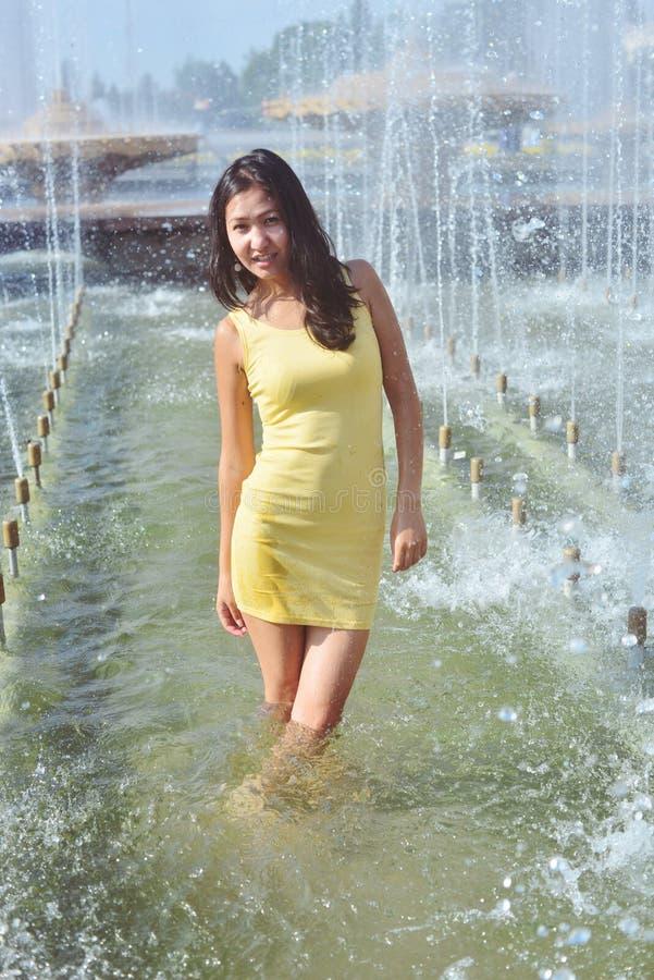 short outdoor hair wet Asian