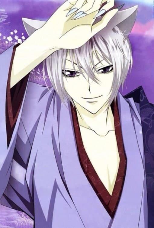 white Anime boy hair with