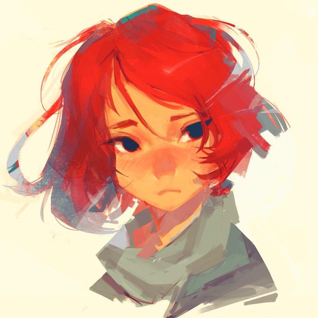 anime characters female Redhead