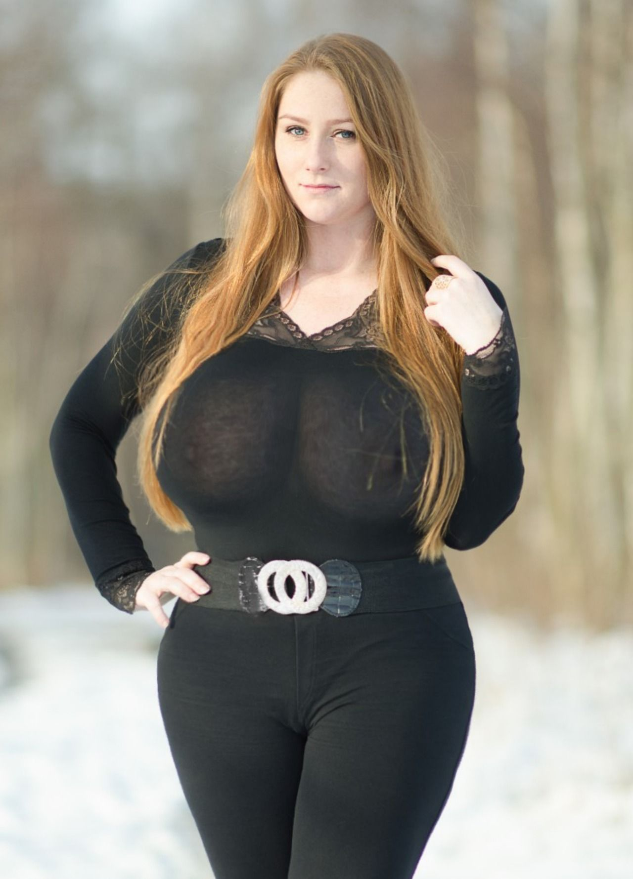 Big tits young milf