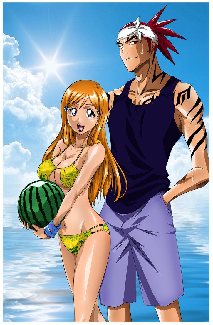 Anime girl long blue hair