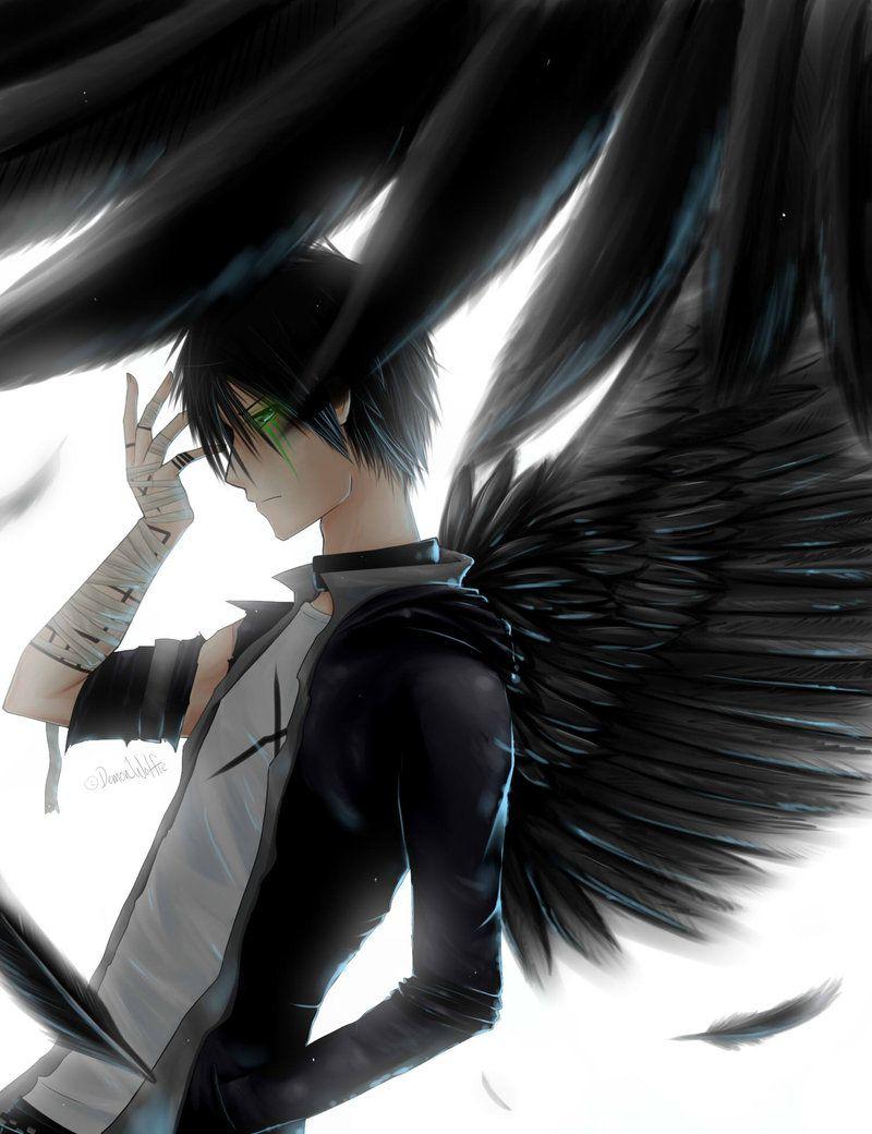 anime boys angel Dark