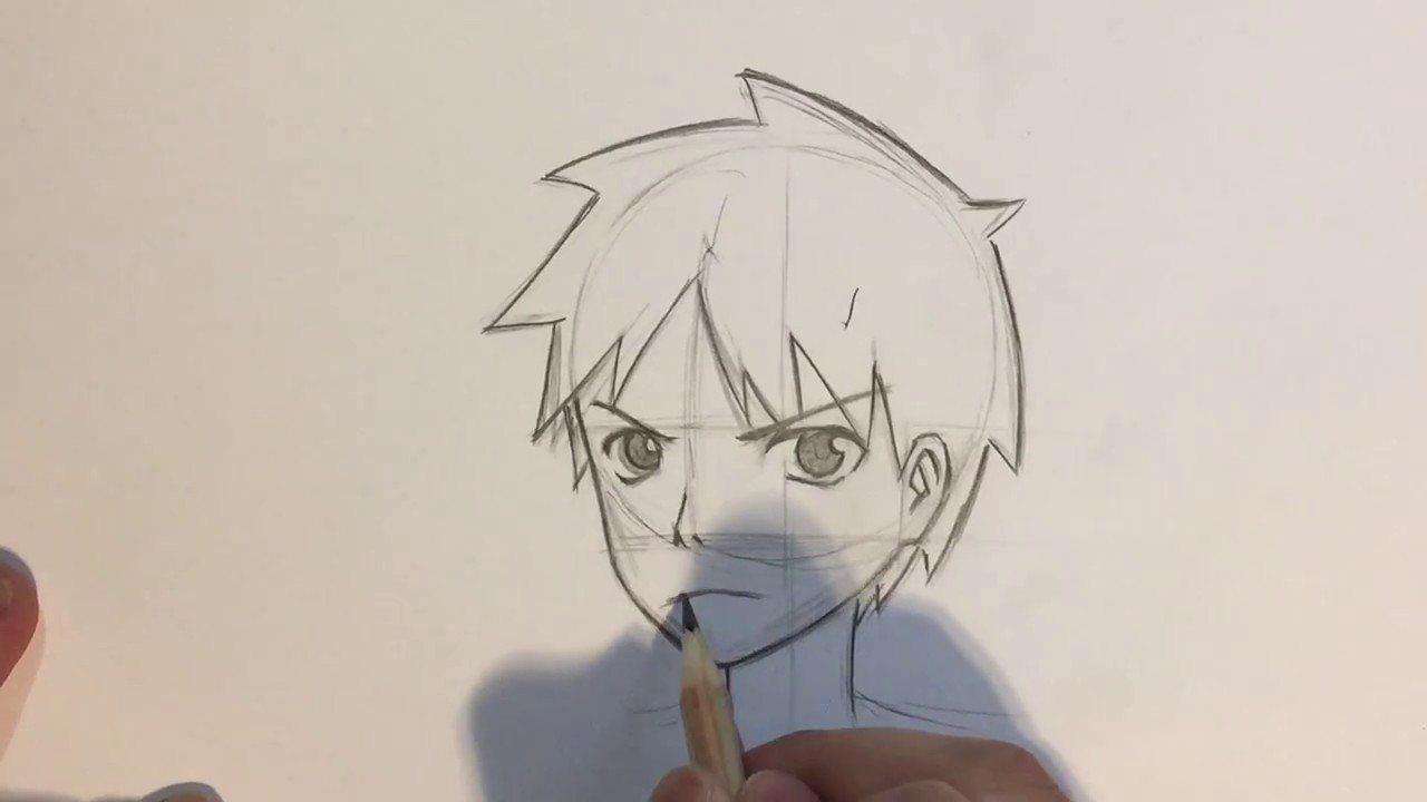 view Anime side male face