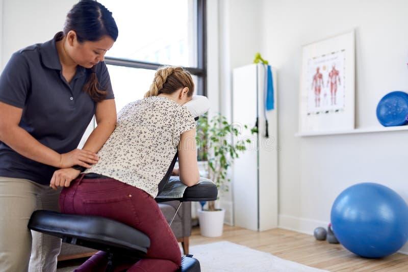 massage Asian girl giving