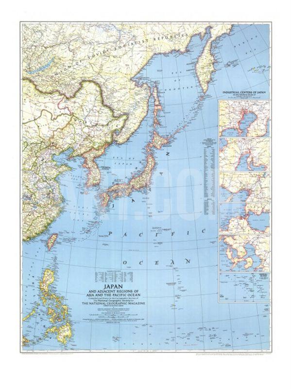 pacific map Asian ocean