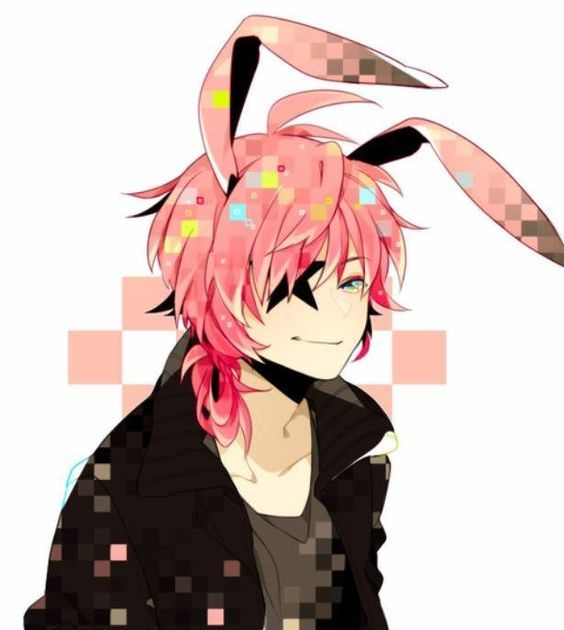 haired anime boy Pink