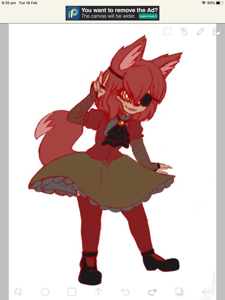 nights foxy Five in anime