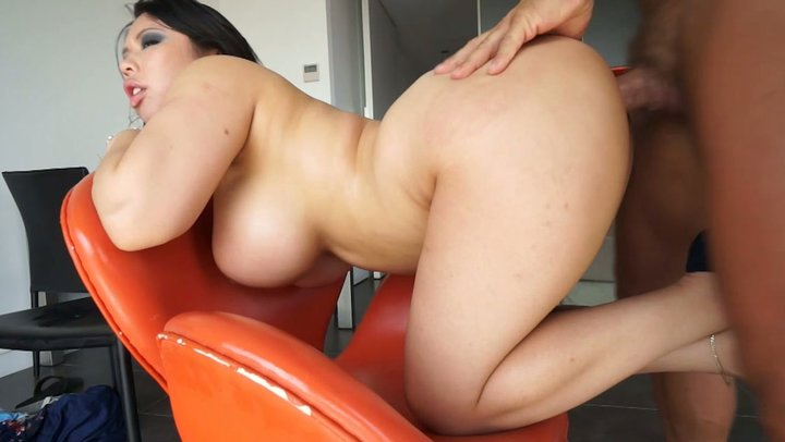 Asian booty anal