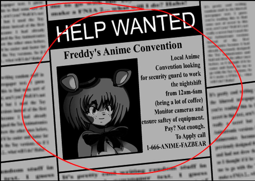 v.5 in anime Five nights