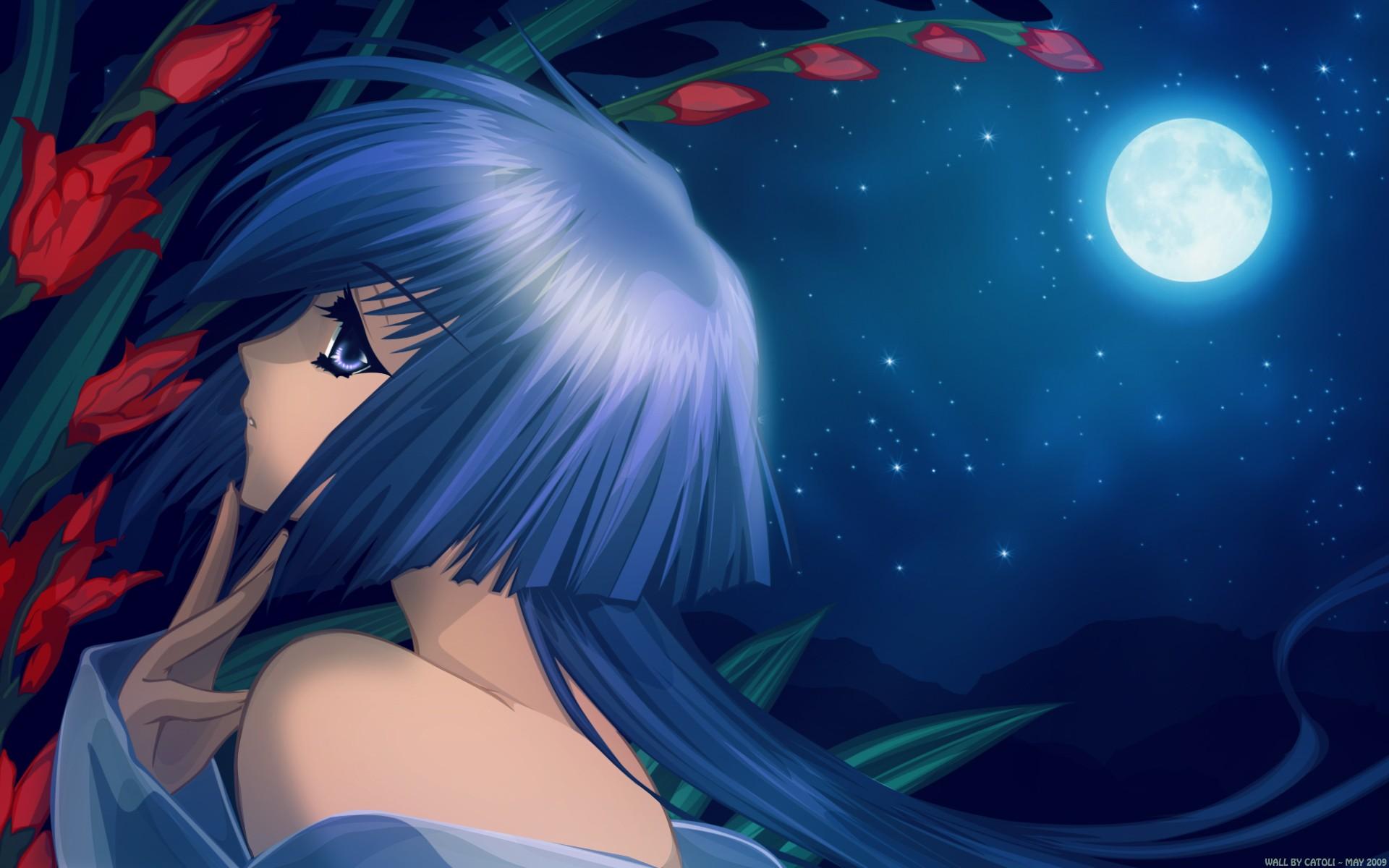anime night Full moon