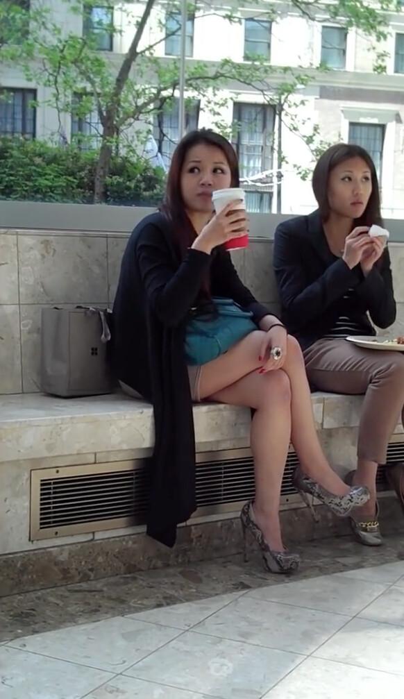 smoking chinese Pantyhose
