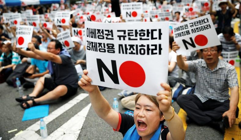 South korea on japan