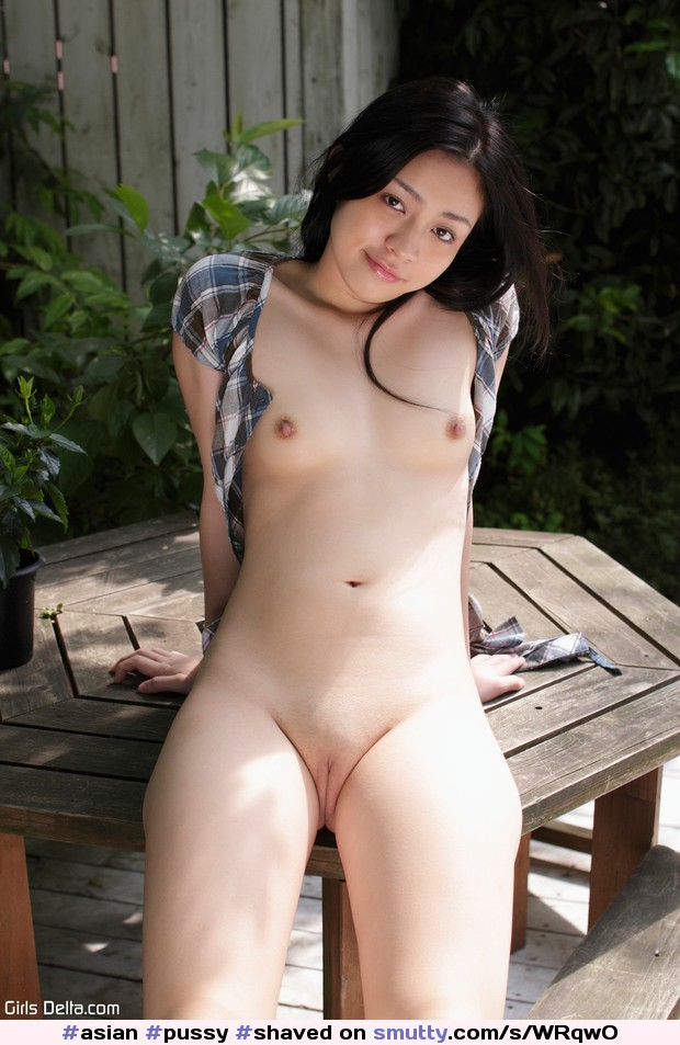 asian shaved outdoor Wife